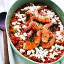 Nine Gluten-Free Ancient Grains, and Greek Millet Saganaki with Shrimp and Ouzo