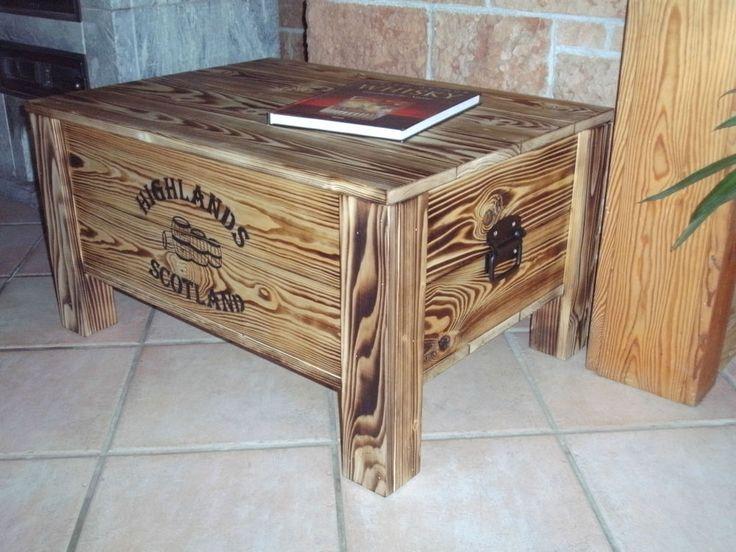 XL Frachtkiste Couchtisch Truhe Tisch Vintage Landhaus