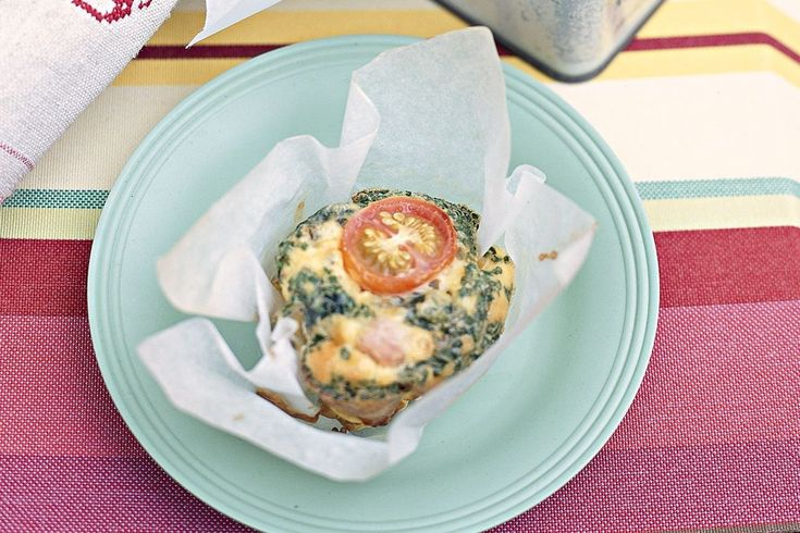 This is a clever take on the ever-popular ham and spinach quiche, without the weigh-you-down pastry.