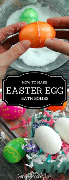 How to make Easter Egg Bath Bombs :: A Beginners Guide using Citric Acid, Baking Soda and Epsom Salts, Fragrance or Essential Oil. Does not include and made without cornstarch, water or witch hazel. This is an oil not a water recipe so the ingredients bind easier making it a great recipe to try if you are new to making bath bombs.