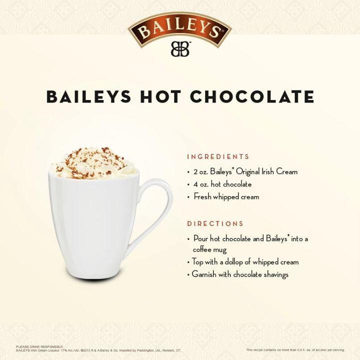 Baileys Recipes, Hot Chocolate