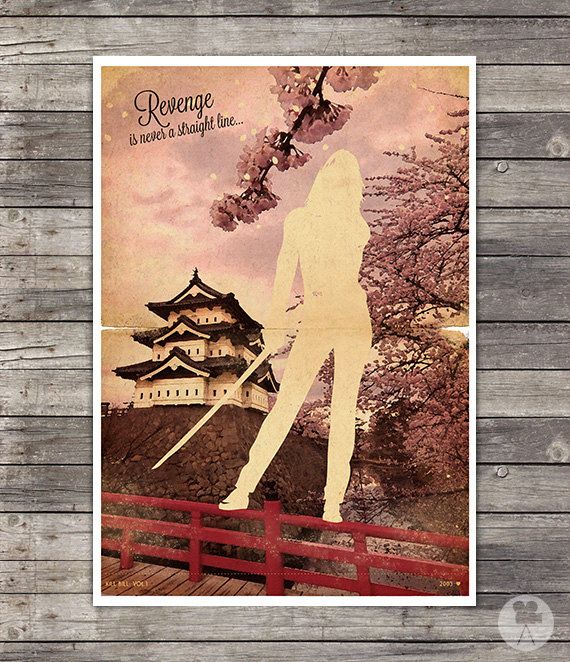 Kill Bill Movie  Poster Sakura  Vintage Style by CinemaStudio, on Etsy!