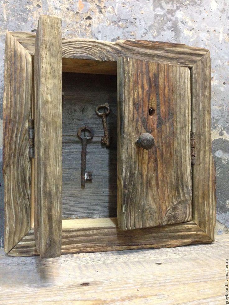 Купить Ключница из старой доски - комбинированный, старая доска, старое дерево, амбарная доска, лофт