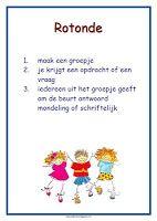 poster werkvorm 'rotonde' lesmateriaal en andere onderwijstips van juf Jantine