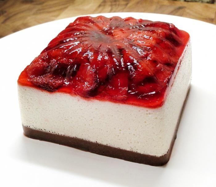 Десерты из желе и фруктов