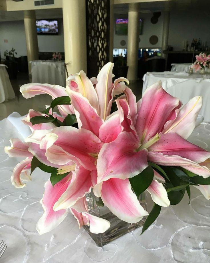 CBC377 wedding Riviera maya strargazer centerpieces/ centro de mesa