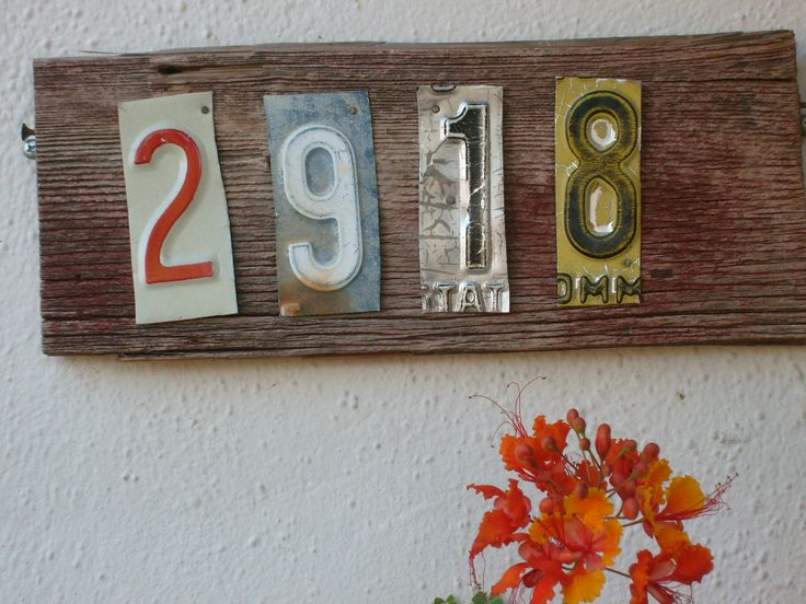 House Numbers great use for old license plates! & 110 best Repurposing: License Plates! images on Pinterest | Licence ...