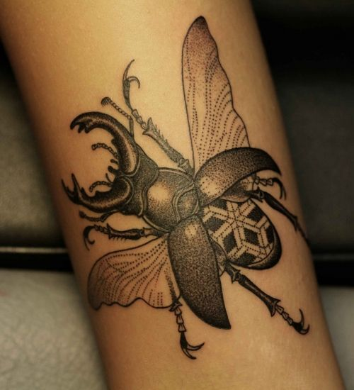 Cool insect tattoo - http://99tattoodesigns.com/cool-insect-tattoo/