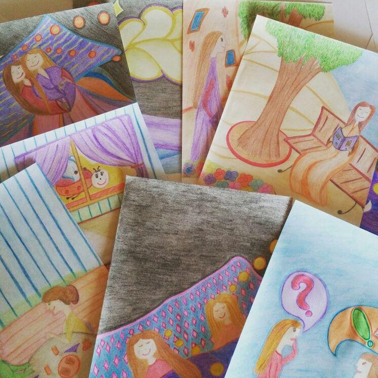 """Las ilustraciones de """"Mamá y mami sueñan con un Bichito de Luz"""" están casi acabadas.  Un libro más para reflejar la diversidad.  """"Los libros del viaje del Bichito de Luz""""  #familiashoy #diversidad #dosmamas #lgtb #cuentoreproduccionasistida #loslibrosdelvajedelbichitodeluz #bichitodeluz #liberumvoxbooks #hoyleemos #gentenueva"""