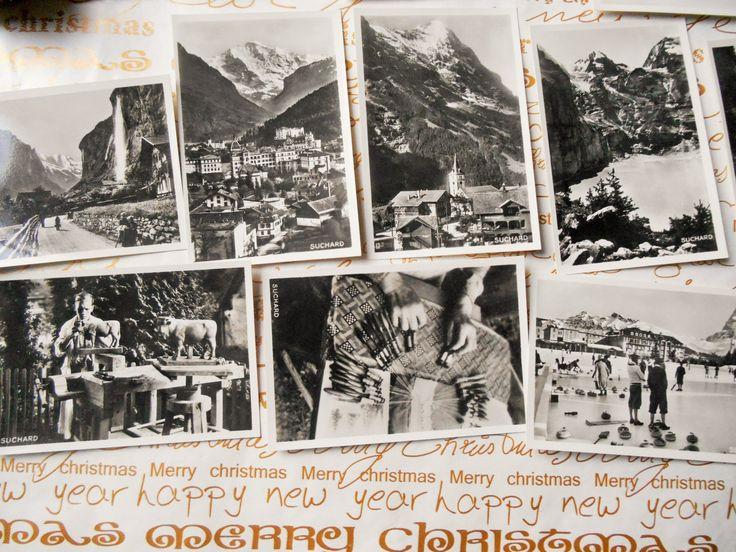Oberland Berner 1939 Photos Swiss Suchard Chocolate 10 Black and White Bromide Photos Serie XX #sophieladydeparis