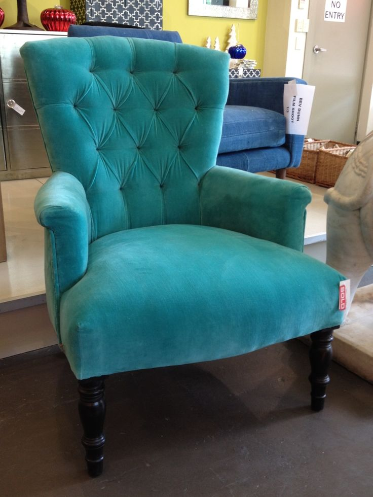 Turquoise Velvet Armchair Colors Pinterest Armchairs