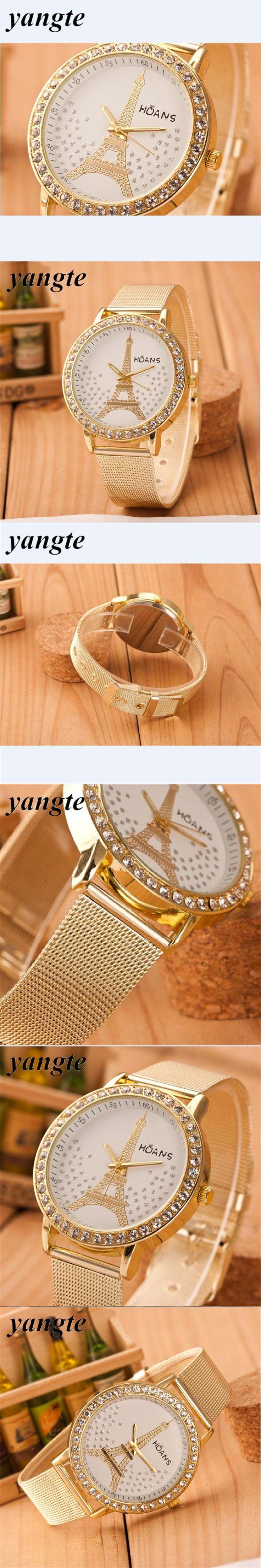 2015 Women'S Watches Brand Fashion Ladies Watch Women Wristwatches Relojes Mujer Gold Quartz Clock Relogio Feminino 2017 AB532