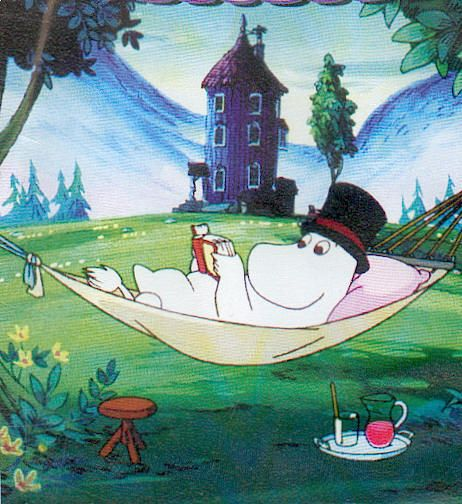 used to think moomin was horse, just knew he's hippo