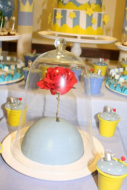 Beauty and the Beast rose in cloche jar  dyi inspiration?