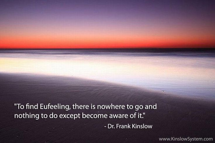 Quote from the book Eufeeling! The Art of Creating Inner Peace & Outer Prosperity http://www.kinslowsystem.com/storebooks.html