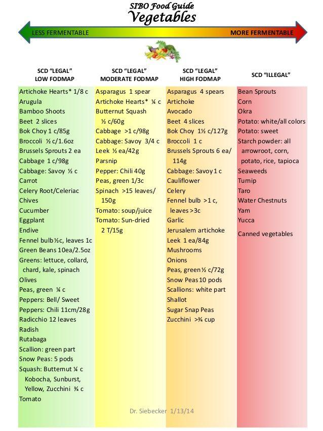 Sibo Low FodMap Food Guide