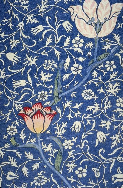 """Illustration 'Medway' pattern (1883-84) from the """"Thames"""" series by English textile designer & artist William Morris (1834-1896). via The Textile Blog"""