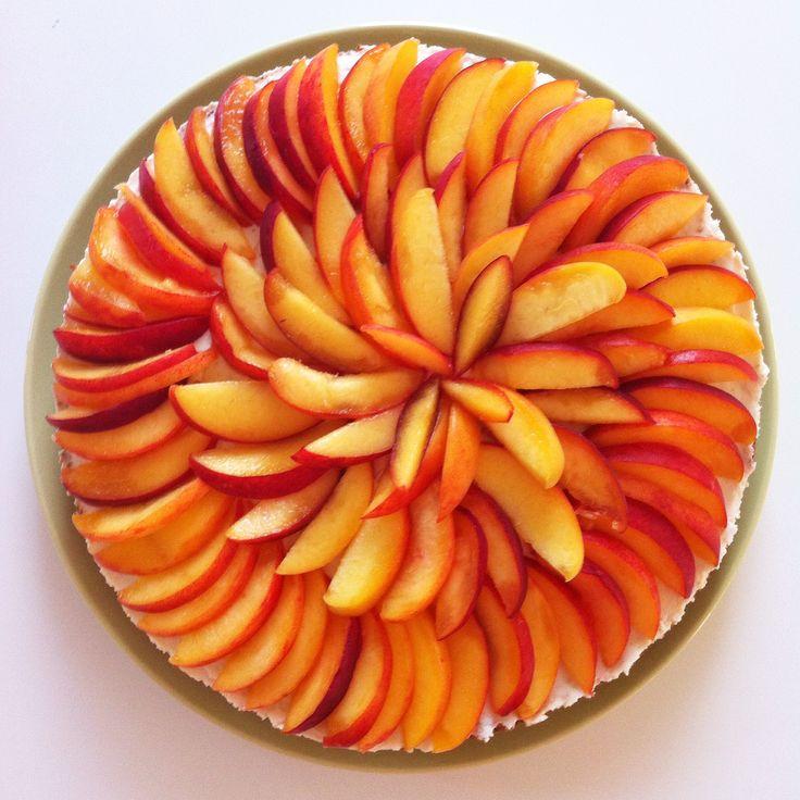 peach and cream cheese tart recipe via 3polkadots