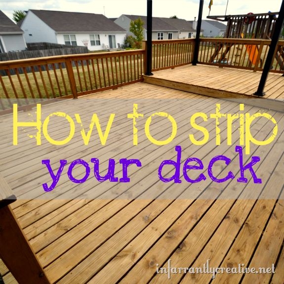 Learn how to strip a deck