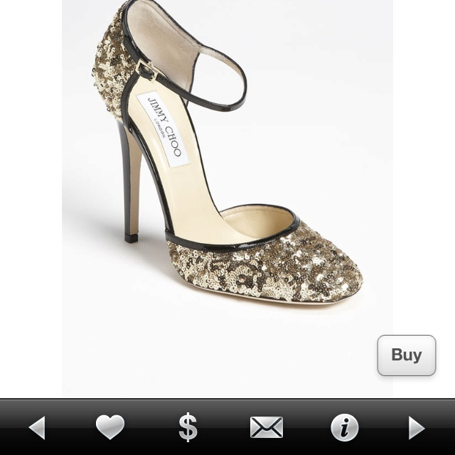 Jimmy Choo Sequin Mary Janes