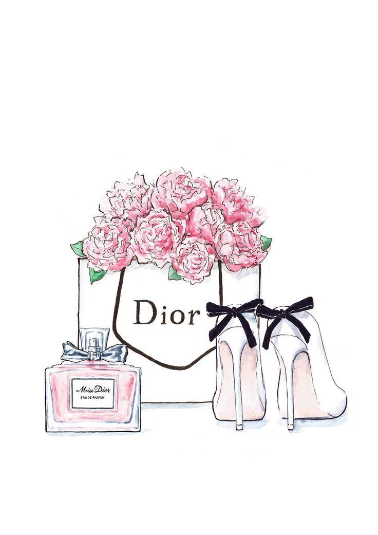 Modeillustration Dior Blumenschuhe und von Annasillustra …  #annasillustra #bl…