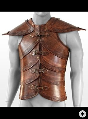 Elf Leather Cuirass brown Handcrafted, genuine leather LARP armor