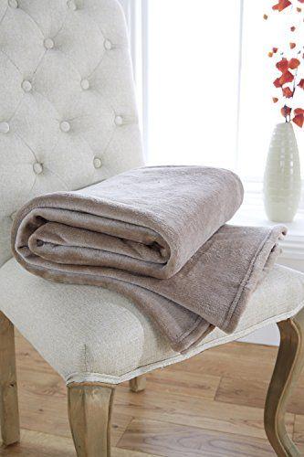 Ultra Plush 270Gsm Plain 140cm x 200cm Fleece Throw/Blanket - Stone Lancashire Textiles http://www.amazon.co.uk/dp/B0168WF5FS/ref=cm_sw_r_pi_dp_745Qwb1R9P4TG