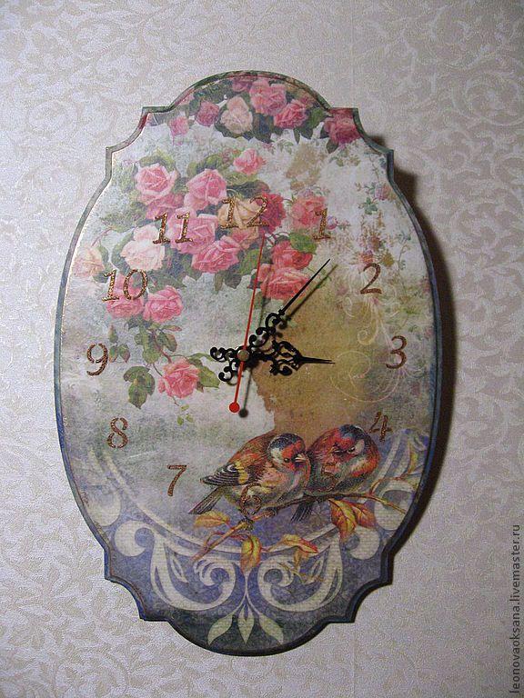"""Купить Часы """"Птички в саду"""" - часы, часы настенные, часы интерьерные, часы для дома"""