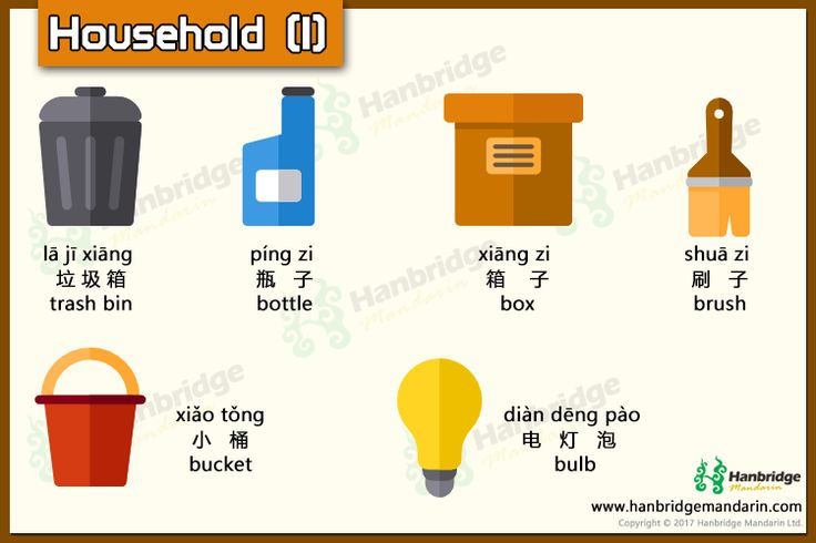 Chinese vocabulary about household