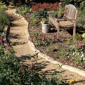 I'm going to make the pathway worn in the backyard look like this, come Spring - and so inexpensive!