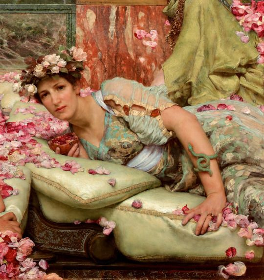 """The Roses of Heliogabalus"" (detail) (1888) by Sir Lawrence Alma-Tadema (1836-1912)."