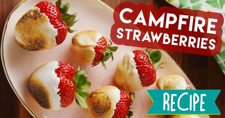 Campfire Strawberries are the best way to use strawberries without a doubt! #recipe #dessert #food