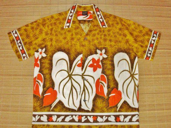 Mens Vintage 1960's Hawaiian Holiday Mod by thehanashirtco on Etsy