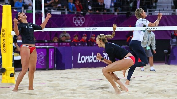 Third Watch -   Kerri Walsh and Misty May-Treanor won their Olympic opener in their continued quest for a third consecutive beach volleyball gold medal.