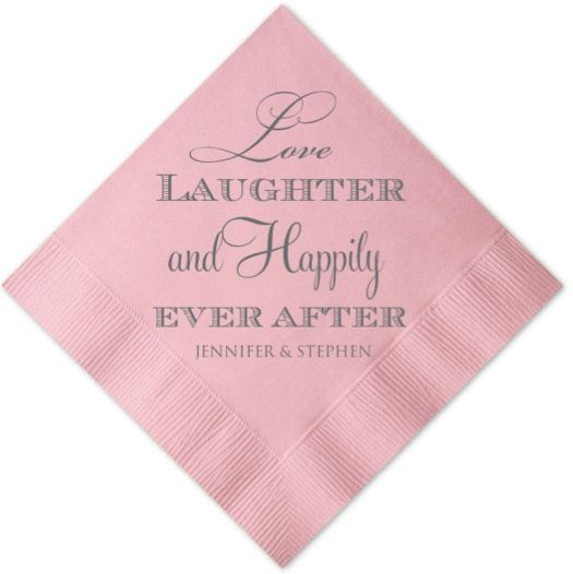Personalised napkins are lovely but a waste of money