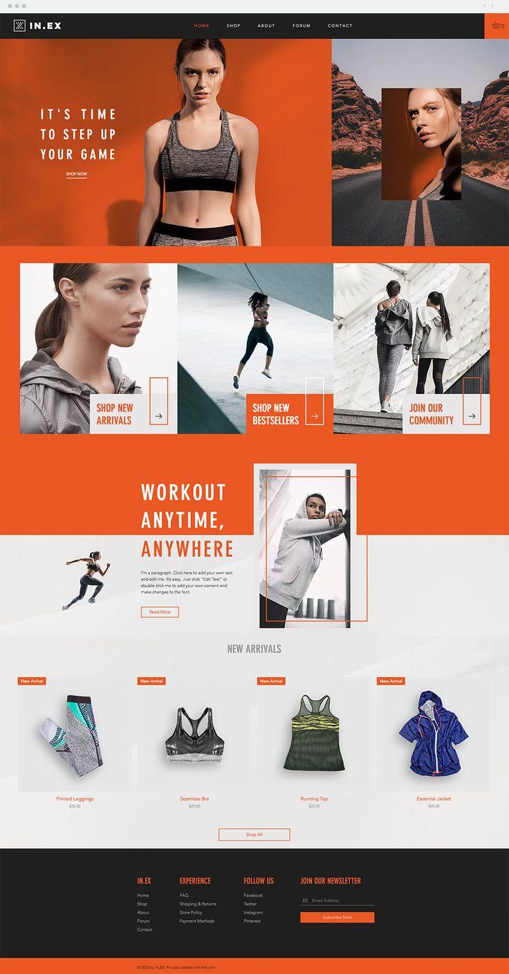 Women's Sportswear Online Store | Website Template