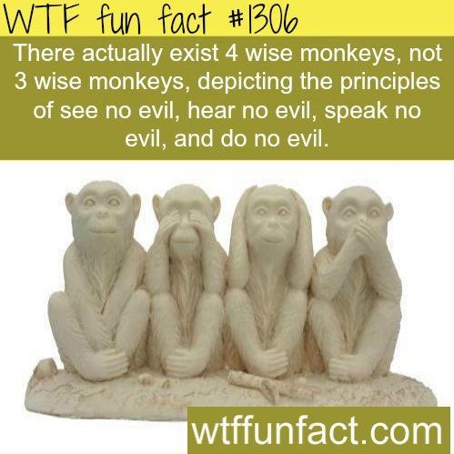 Four NOT Three wise monkeys - facts  MORE OF WTF FACTS are coming HERE  wise monkeys, movies and fun