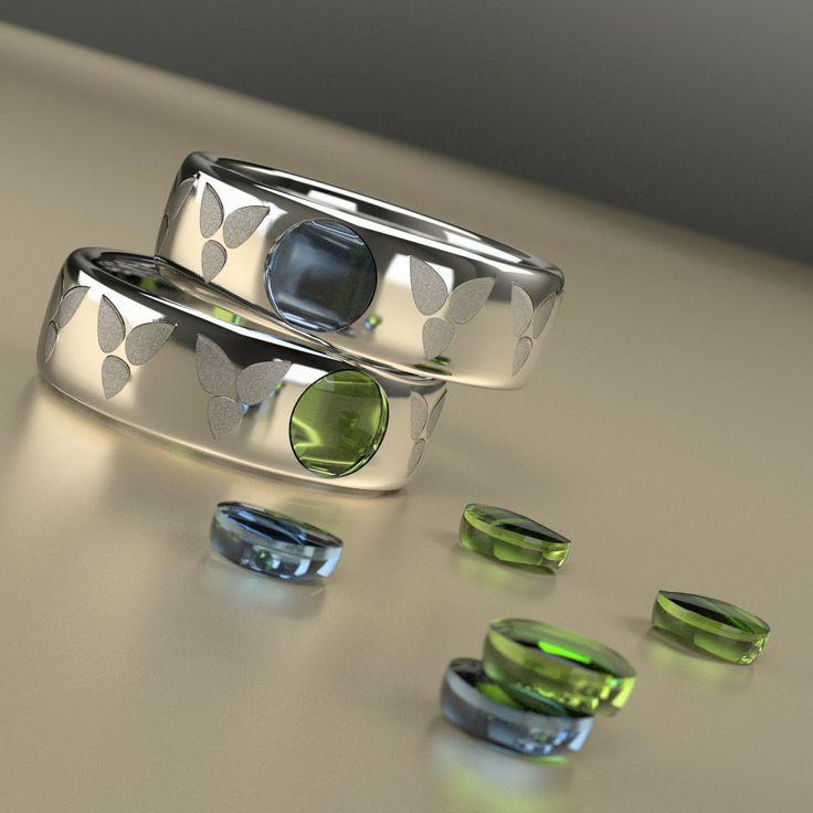 Silver rings made with Blender 3D. © Johanna Pakkala. – 3D jewellery, 3D modeling www.jossu.net