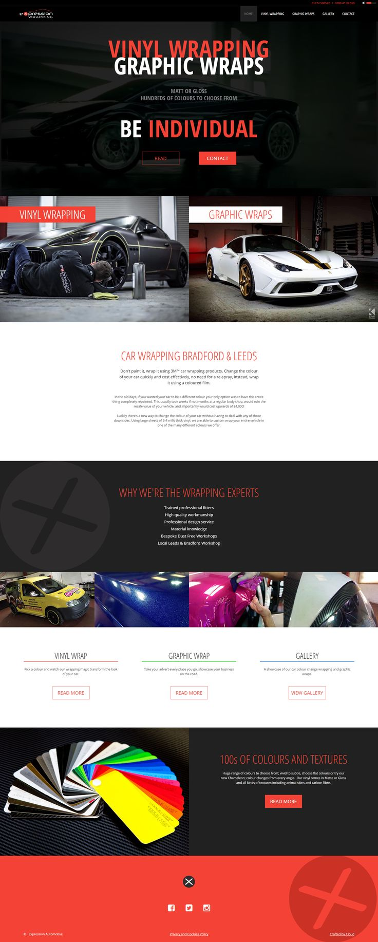 http://www.expressioncarwrapping.co.uk  Website for Expression Wrapping of Bradford, UK.  Fully responsive website incorporating a video in the hero area.  #webdesign #responsive #design #bradford #cars #wrapping #automotive