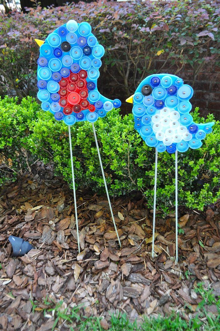 bottle cap birds. They're so cute!