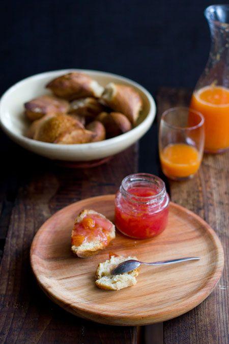 rabarberjam met sinaasappel en gember - confitura de ruibarbo con naranja y jengibre
