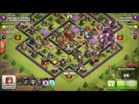 LavaLoonion Using 5 Lava Hounds On TH10 - Clash Of Clans Strategy