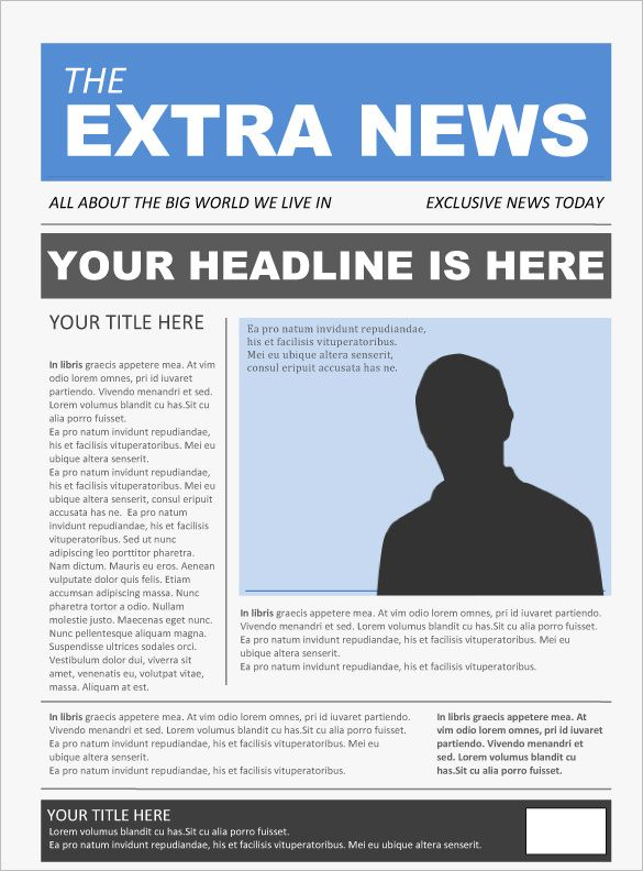 free newspaper template for word document
