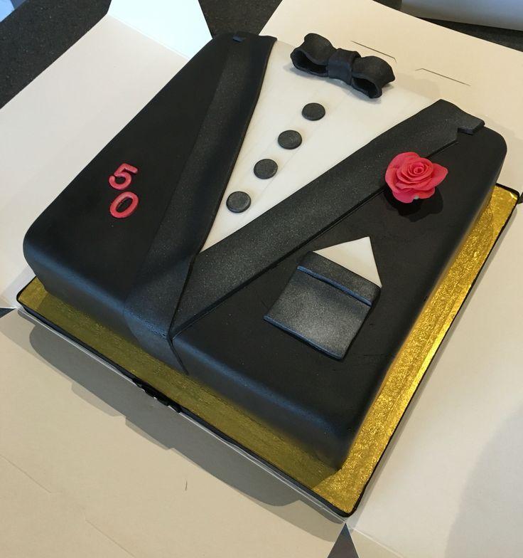 50th birthday suit / tuxedo / black tie cake                                                                                                                                                                                 More