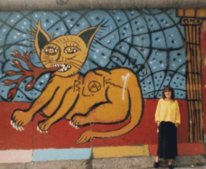 Me, aged 19, at the Berlin Wall in 1987.