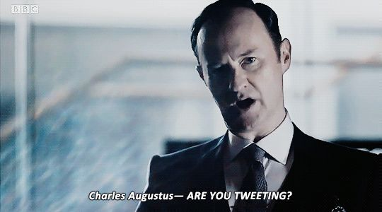 """Mycroft. Sherlock S04 E01 """"The Six Thatchers"""". Season 4. <<< this was one of the funniest moments in the episode tbh"""