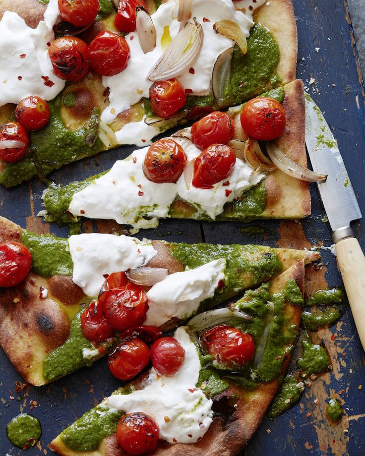 When pizza is a craving, this charred tomato pesto pizza is a must!
