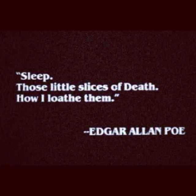 Edgar Allan Poe Quotes: Edgar Allan Poe Quote In Sleep