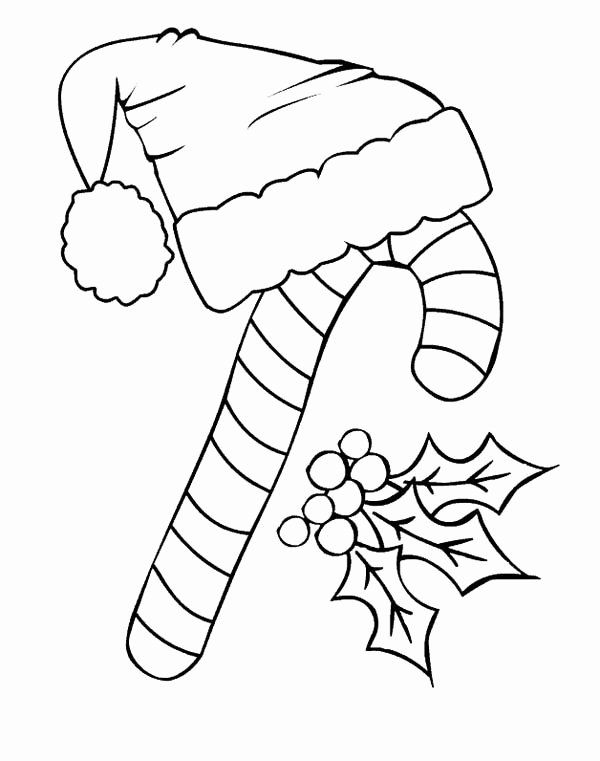 Santa Hat Coloring Page Fresh Candy Cane And Santa Claus Hat Coloring Page Download Kids Christmas Coloring Pages Santa Coloring Pages Candy Cane Coloring Page
