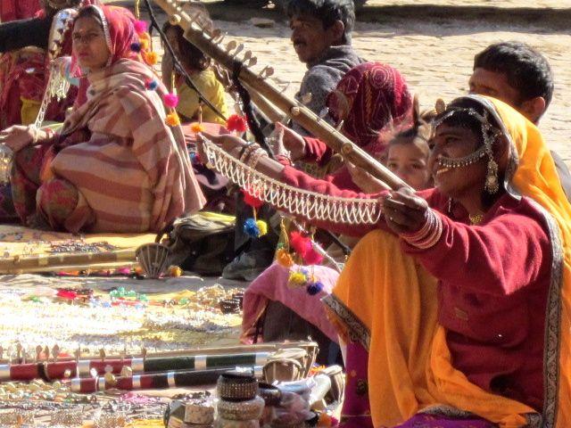 Woman selling jewelry. Jodhpur.